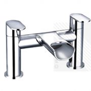 Arian India Curved Waterfall Bath Filler Tap in Chrome